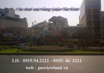 For rent in front of Hoang Van Thu street in Tan Binh district with 312m2