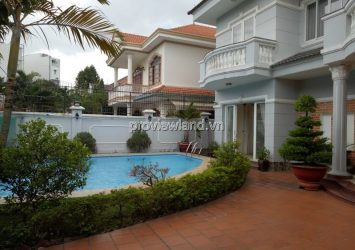 Thao Dien villa for rent has area 400sqm 4 bedrooms unfurnished