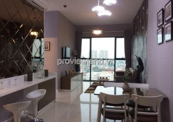 Luxury apartment for rent Ascent 19th floor has area 70sqm 2 bedrooms river view