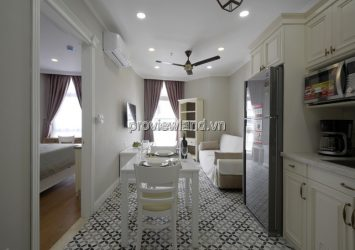 Serviced apartment for rent at Nguyen Van Huong Street 1-2 bedrooms has pool