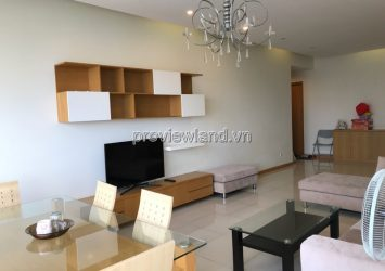 Saigon Pearl serviced apartment for rent in Binh Thanh District 140sqm 3brs high floor