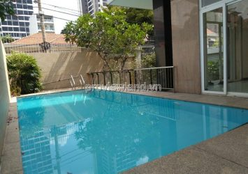Villa for rent in street 42 Thao Dien Ward 3 floors area 400sqm 5 bedrooms basic furniture