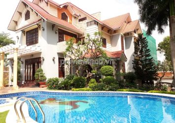 Thao Dien villa zone Eden for sale has area 448sqm front of Nguyen Van Huong street