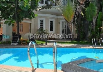Private garden and pool villa in Thao Dien for sale has 352m2 area 1 ground 2 floors