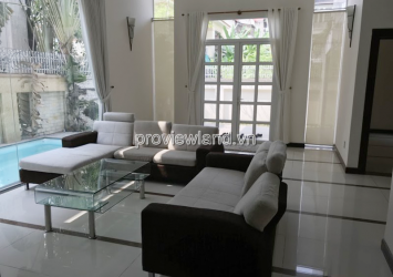 Fideco Thao Dien villa for rent has garden swimming pool 3 floors 350sqm 4 bedrooms full furniture