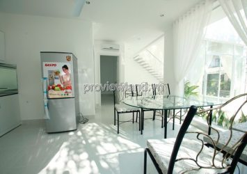 Compound Tran Nao villa for lease with area 120m2 2 floors 3 bedrooms full furniture