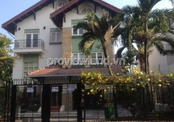Rental Villa Thao Dien 1 located in Nguyen Van Huong 700sqm 5brs