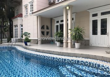 Kim Son Thao Dien villa for rent has a large area of ​​800m2 5 bedrooms full furniture