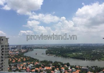 Masteri Thao Dien apartment for rent area of 168sqm 4 Bedrooms high floor river view