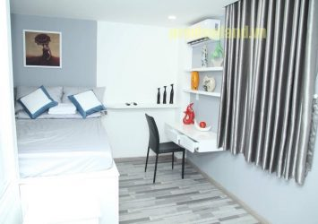 The serviced apartment for rent in district 1 consists of 1 bedroom with area of 30sqm fully furnished