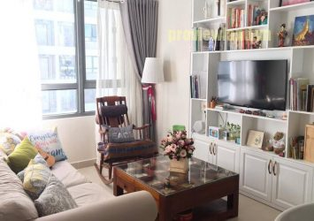 Apartment for rent at Masteri Thao Dien area of 65sqm consists of 2 bedrooms fully furnished