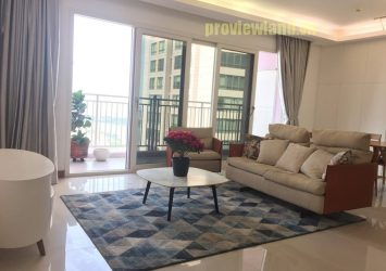 Apartment for rent XI Riverview Place has an area of ​​145m2 with 3 bedrooms river view
