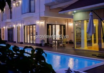 Thao Dien villa for sale has an area of 1200m2 residential land garden beautiful swimming pool