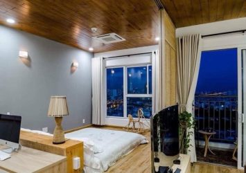 Need for rent serviced apartment District 4 including a bedroom nice view