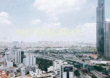 Pearl Plaza apartment for rent in Binh Thanh District with 1 bedroom area of 55sqm nice view