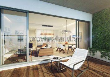 1 bedroom semi-detached Gateway Thao Dien apartment area of 51m2 low floor