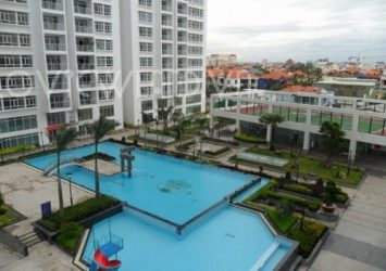 Hoang Anh Riverview apartment for sale area of 138sqm including 3 bedrooms swimming pool view