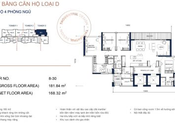4 bedroom apartment for sale in Q2 Thao Dien District 2 area 181m2 T3 tower