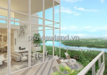 Penthouse Master An Phu apartment for sale, with an area of 260m2 has a large garden