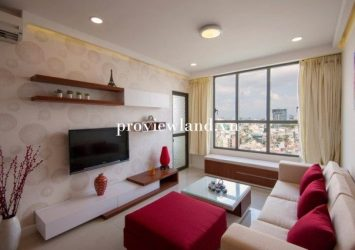 for rent serviced apartment 1 bedroom full furnished in Icon 56 District 4