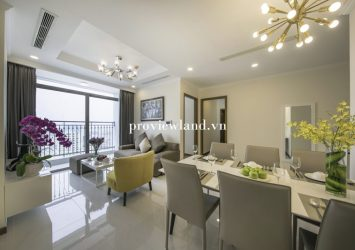 For rent serviced apartment Vinhomes Central Park 2 bedroom at Landmark Plus Tower