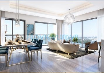 Canary Officetel apartment for sale with 2 bedroom river view at Diamond Island project good price