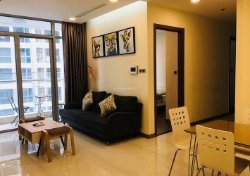 Serviced apartment for rent at Park 2 in Vinhomes Central Park with 3 bedrooms river view