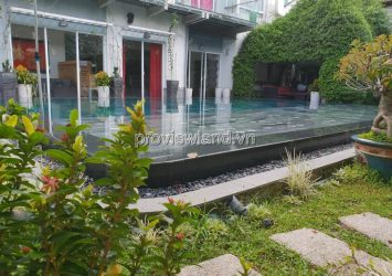 Thao Dien Villa for sale is located in the Compound area near Saigon River 900m2 area of 5BRs