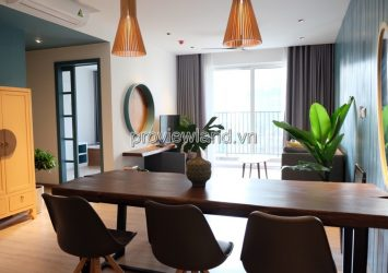 Apartment for rent in middle floor of Tower T2 2 bedrooms 82 sqm Vista Verde project