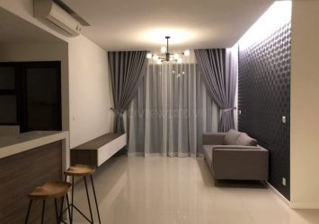 The apartment for rent at Estella Heights consists of 2 bedrooms fully furnished