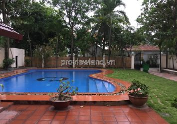 Villa for rent in An Phu comppound area has a large swimming pool with an area of 600m2