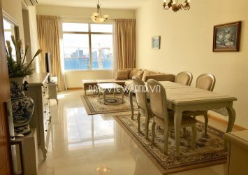 Saigon Pearl apartment for rent at Ruby2 tower consists of 2 bedrooms has nice view