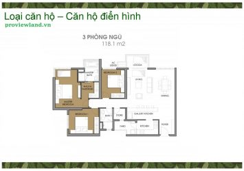 Vista Verde apartment for rent in District 2 fully furnished with 3 bedrooms