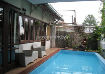 Villa for rent in Nguyen U Di street Thao Dien area of 300sqm 1 ground 1 floor