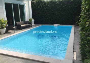 Villa rental 1 ground 2 floors  area 400m2 with swimming pool at Nguyen Van Huong Street District 2