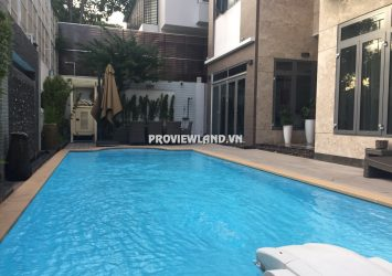 Villa for rent on Nguyen Van Huong street 1 ground 2 floors area 525m2 with swimming pool and garden