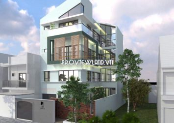 Thao Dien Villa with 3 floors and 1 entresol garden wide facade new for rent