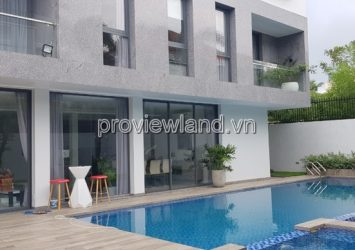 Villa for rent in Thao Dien with area 650sqm 4BRs large garden pool