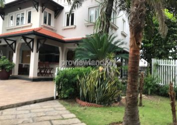 Spring villa for rent at Thanh My Loi area 800m2 4 bedrooms full furniture