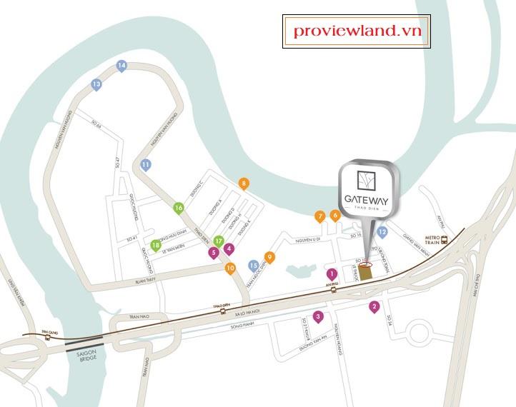 Gateway Thao Dien location