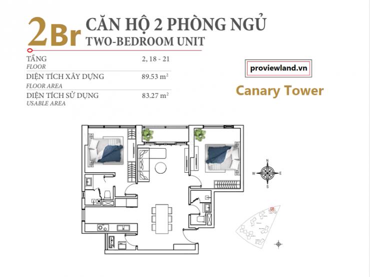 Layout Diamond Island apartment 2Bedrooms