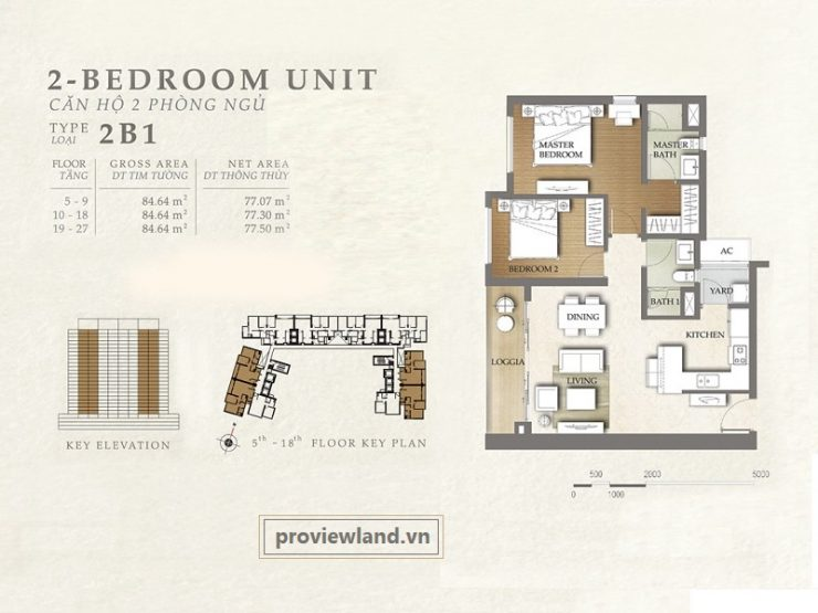 Layout The Nassim Apartment 2Bedrooms