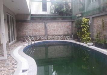 Thao Dien villa for sale with area of 15x20m has a nice 2-storey swimming pool