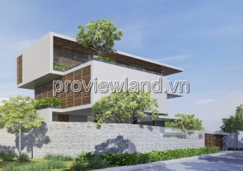 Thao Dien villa for sale with 2 fronts area of ​​20x23m 5 bedrooms