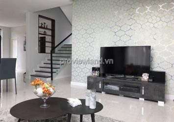 Lucasta villa for rent in District 9 1 ground 2 floor 4BRs full interior
