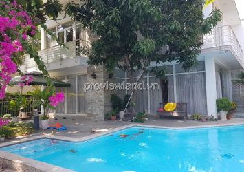 Compound villa for rent Thao Dien 1 area of  500m2 has garden and pool