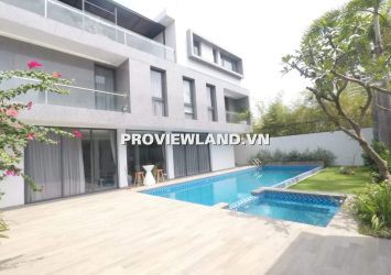 Super Villa Thao Dien modern rental for rent 1 ground 2 floors 750m2 private garden beautiful pool