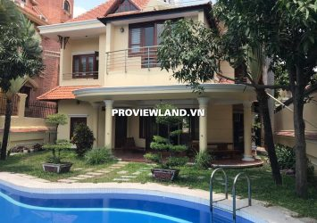 Villa Thao Dien for rent with area 450m2 1 ground floor 1 floor 5 bedrooms have swimming pool