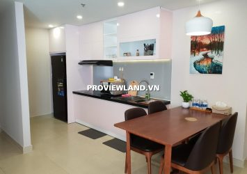 Serviced apartment Masteri Thao Dien for rent 68sqm 2 bedrooms interior high-class river view