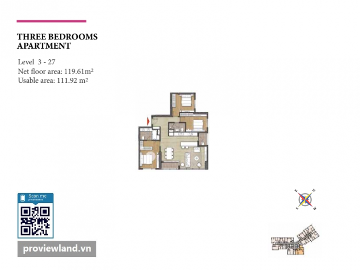 Diamond Island layout Bora apartment 3 bedrooms